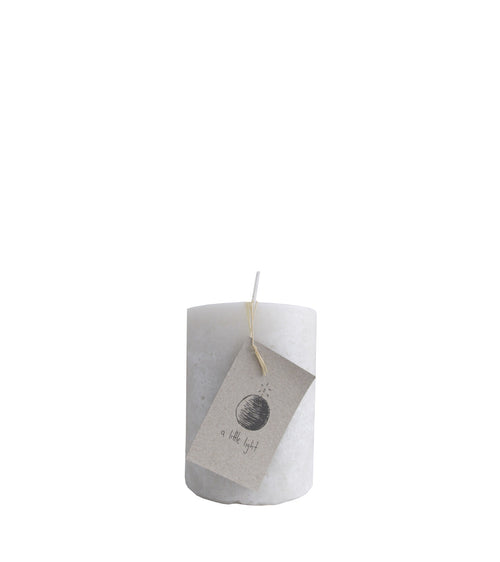 SMALL IVORY CHAPEL CANDLE | A LITTLE LIGHT