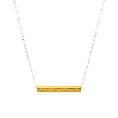 Rock Finders Keepers | Alexis Fine Hammered Bar Necklace - Gold | VOULT.COM.AU