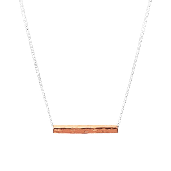 Rock Finders Keepers | Alexis Fine Hammered Bar Necklace - Rose | VOULT.COM.AU