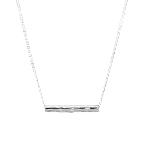 Rock Finders Keepers | Alexis Fine Hammered Bar Necklace - Silver | VOULT.COM.AU