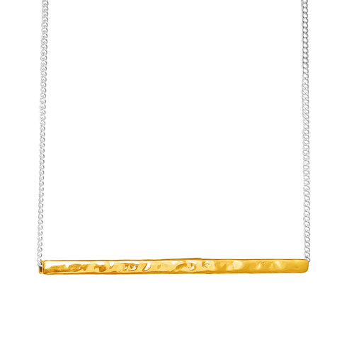 Rock Finders Keepers | Alexis Hammered Bar Necklace - Gold | VOULT.COM.AU