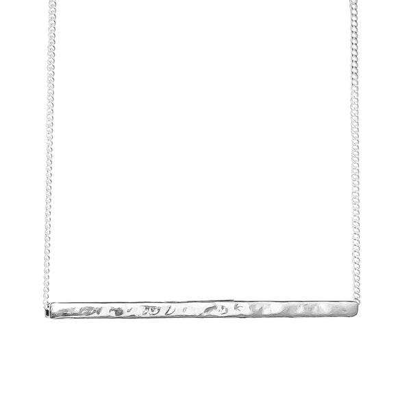 Rock Finders Keepers | Alexis Hammered Bar Necklace - Silver | VOULT.COM.AU