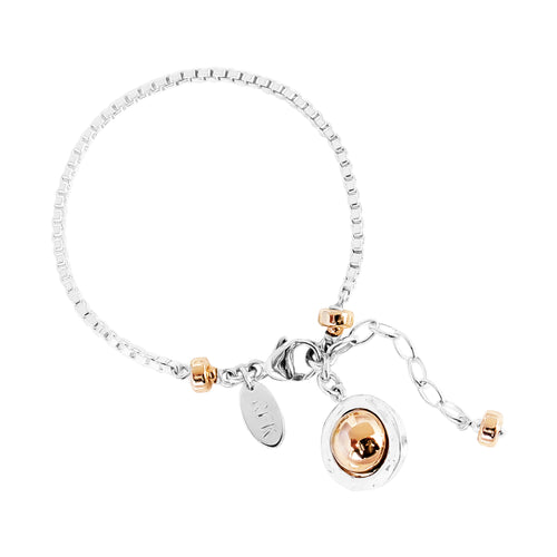 Rock Finders Keepers | Atticus Box Chain Bracelet - Polished Rose Detail | VOULT.COM.AU