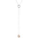 Rock Finders Keepers | Atticus Fine Charm Lariet Necklace - Polished Rose Detail | VOULT.COM.AU