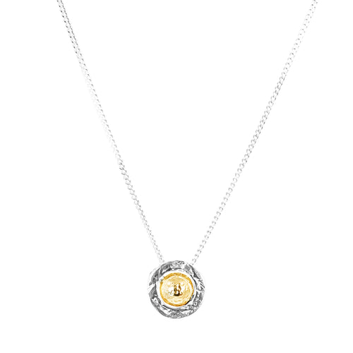 Rock Finders Keepers | Atticus Fine Necklace - Hammered Gold Detail | VOULT.COM.AU
