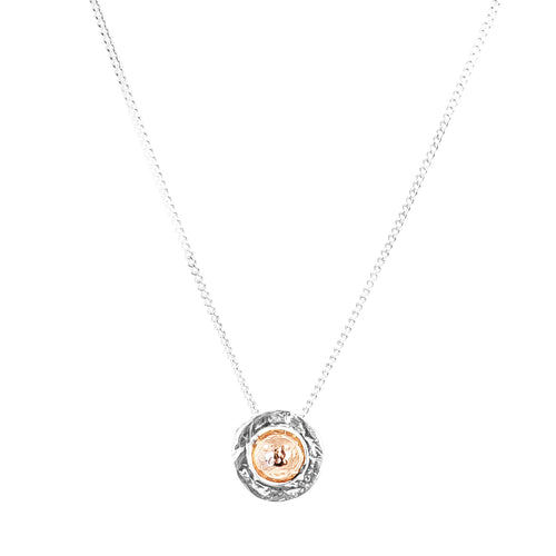 Rock Finders Keepers | Atticus Fine Necklace - Hammered Rose Detail | VOULT.COM.AU
