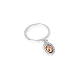 Rock Finders Keepers | Atticus Hanging Detail Ring - Polished Rose Detail | VOULT.COM.AU