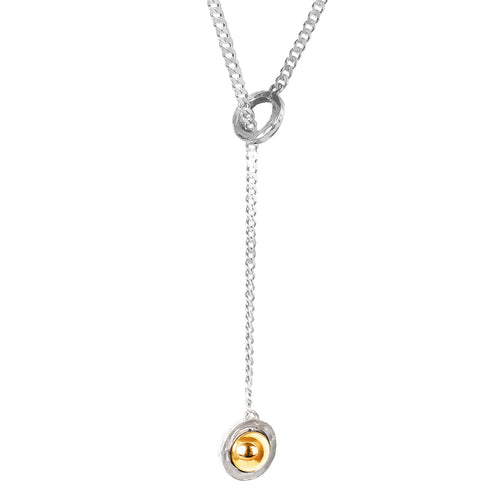 Rock Finders Keepers | Atticus Large Charm Lariet Necklace | Polished Gold Detail | VOULT.COM.AU