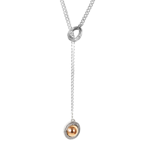 Rock Finders Keepers | Atticus Large Charm Lariet Necklace | Polished Rose Detail | VOULT.COM.AU