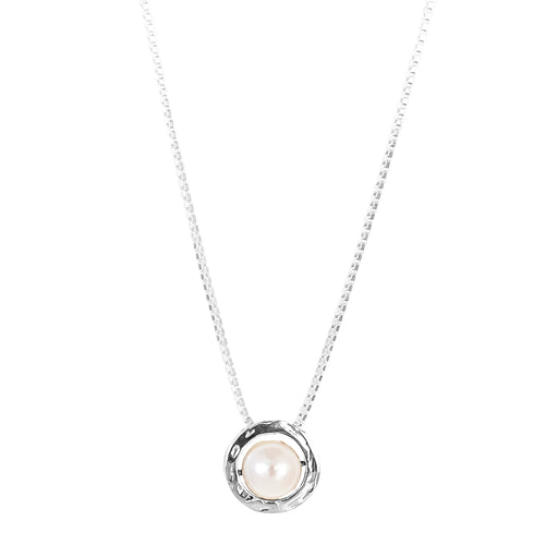 Rock Finders Keepers | Atticus Large Charm Necklace With Box Chain - Long | Pearl Detail | VOULT.COM.AU