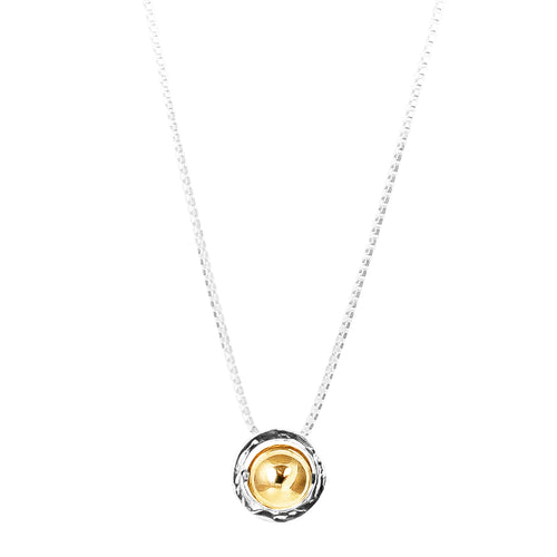 Rock Finders Keepers | Atticus Large Charm Necklace With Box Chain - Long | Polished Gold Detail | VOULT.COM.AU