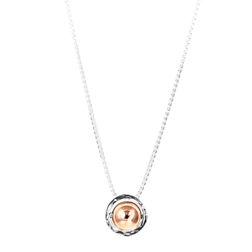 Rock Finders Keepers | Atticus Large Charm Necklace With Box Chain - Long | Polished Rose Detail | VOULT.COM.AU