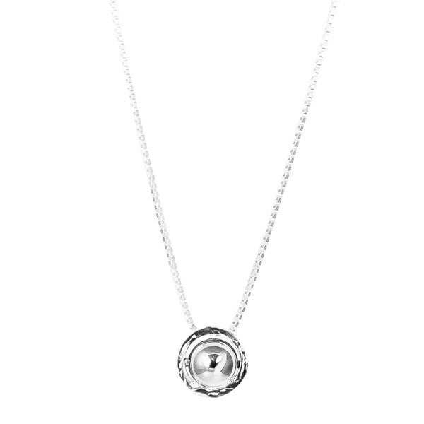 Rock Finders Keepers | Atticus Large Charm Necklace With Box Chain - Long | Polished Silver Detail | VOULT.COM.AU