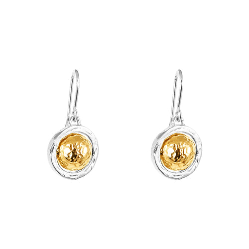 Rock Finders Keepers | Atticus Large Drop Earrings | Hammered Gold Detail | VOULT.COM.AU