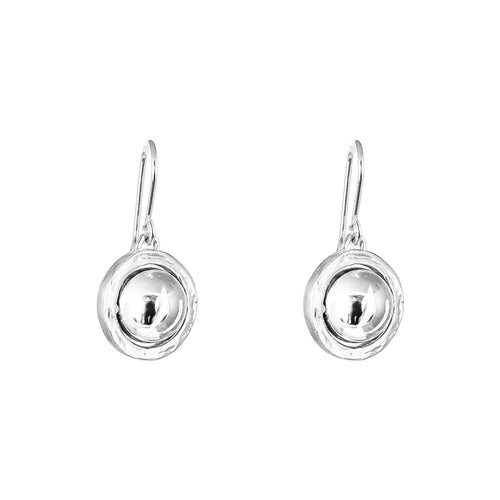 Rock Finders Keepers | Atticus Large Drop Earrings | Polished Silver Detail | VOULT.COM.AU