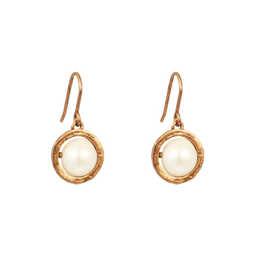 Rock Finders Keepers | Atticus Large Drop Earrings | Rose With Pearl Detail | VOULT.COM.AU