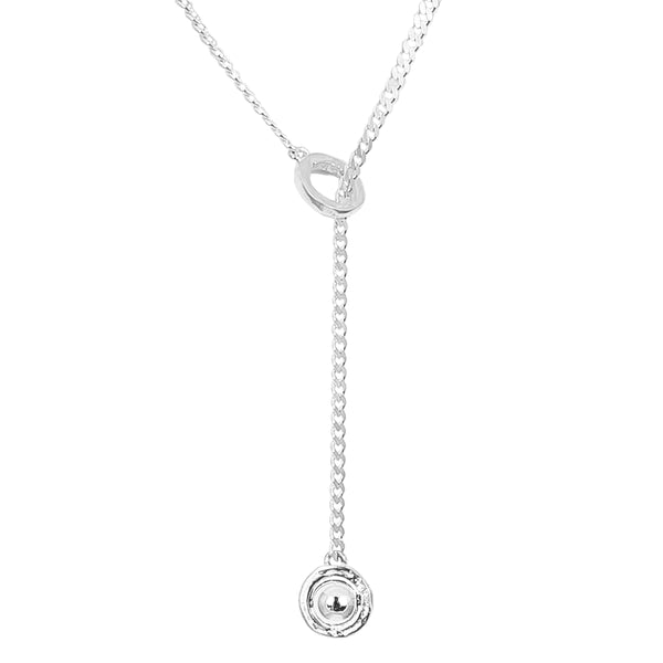 Rock Finders Keepers | Atticus Medium Charm Lariet Necklace | Polished Silver Detail | VOULT.COM.AU