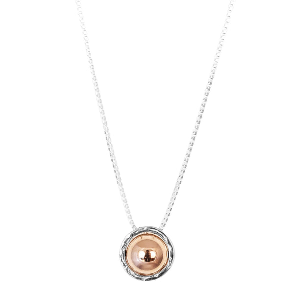 Rock Finders Keepers | Atticus X-Large Charm Necklace With Box Chain - Long | Polished Rose Detail | VOULT.COM.AU