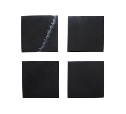 Voult | Black Marble Coaster | Set Of 4 | VOULT.COM.AU