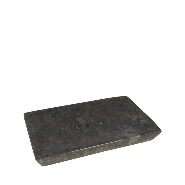 BLACK MARBLE SOAP DISH