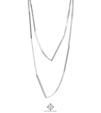 Rock Finders Keepers | Cayge Multi Polished Bar Necklace - Long | Silver | VOULT.COM.AU
