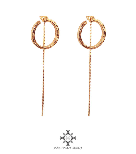 Rock Finders Keepers | Cuba Earrings With Chain Detail | Rose | VOULT.COM.AU