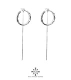 Rock Finders Keepers | Cuba Earrings With Chain Detail | Silver | VOULT.COM.AU
