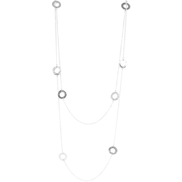 Rock Finders Keepers | Chloe Necklace - Long | Hammered Silver Detail | VOULT.COM.AU