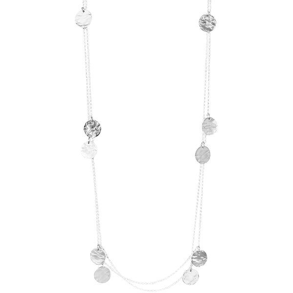 Rock Finders Keepers | Coco Necklace - Long | Hammered Silver Detail | VOULT.COM.AU
