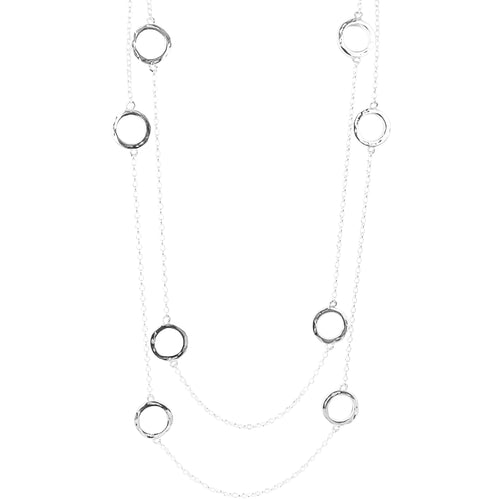 Rock Finders Keepers | Cruz Necklace - Long | Hammered Silver Detail | VOULT.COM.AU