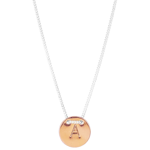 Rock Finders Keepers | Delta Initial Necklace | Rose | VOULT.COM.AU