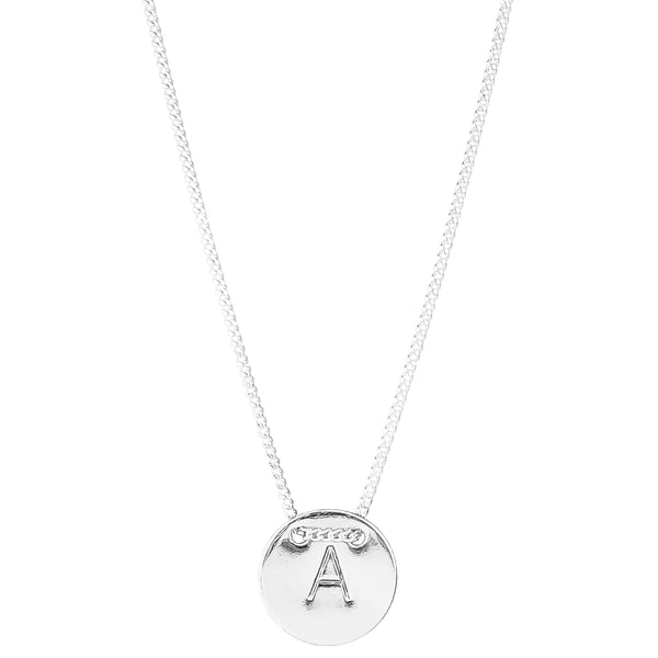 Rock Finders Keepers | Delta Initial Necklace | Silver | VOULT.COM.AU