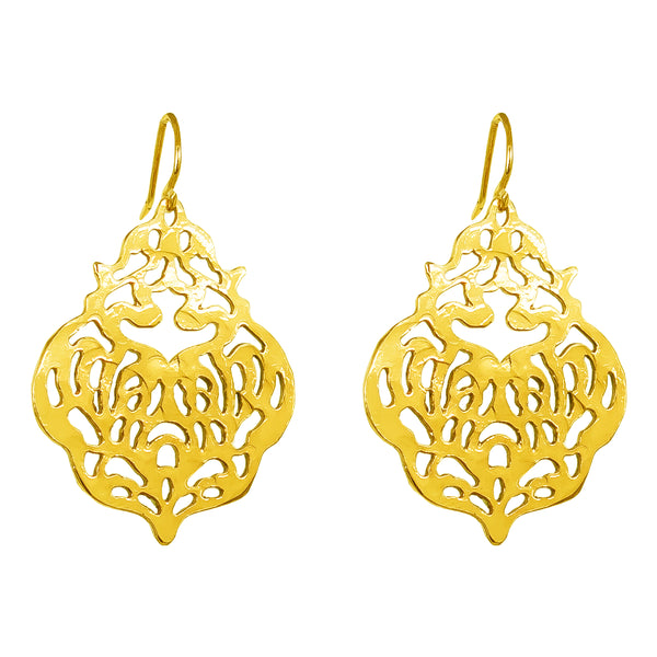 Rock Finders Keepers | Flame Earrings | Gold | VOULT.COM.AU