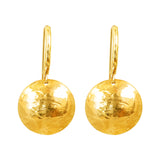 Rock Finders Keepers | Genevieve Disc Earrings With Statement Hook | Gold | VOULT.COM.AU