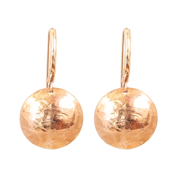 Rock Finders Keepers | Genevieve Disc Earrings With Statement Hook | Rose | VOULT.COM.AU