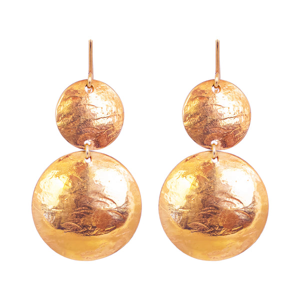 Rock Finders Keepers | Genevieve Double Disc Earrings | Rose | VOULT.COM.AU