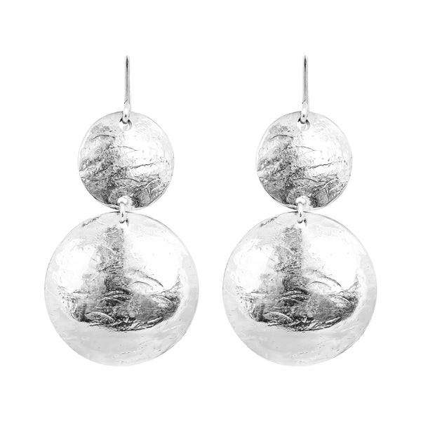 Rock Finders Keepers | Genevieve Double Disc Earrings | Silver | VOULT.COM.AU