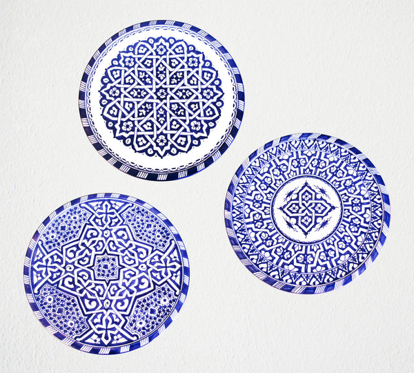 Hand Painted Moroccan Plate | Design 2