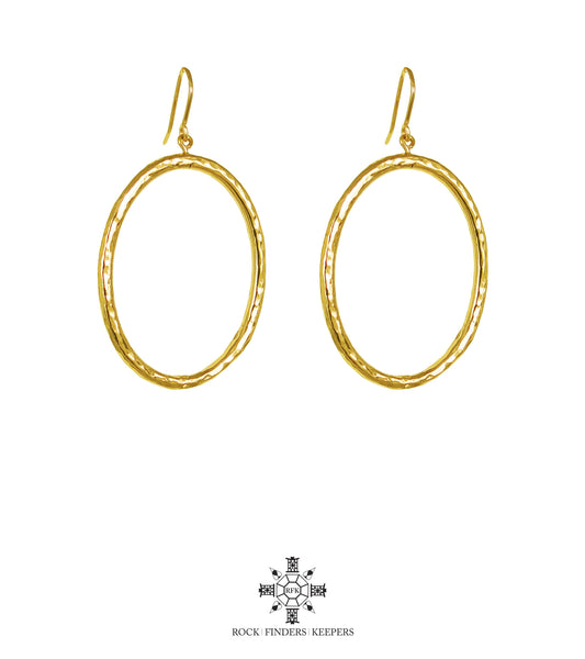 Rock Finders Keepers | Harper Large Oval Hoop Earrings | Gold | VOULT.COM.AU