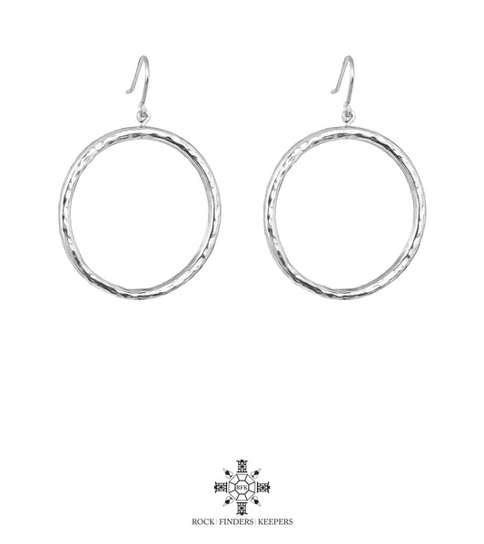Rock Finders Keepers | Harper Large Hoop Earrings | Silver | VOULT.COM.AU