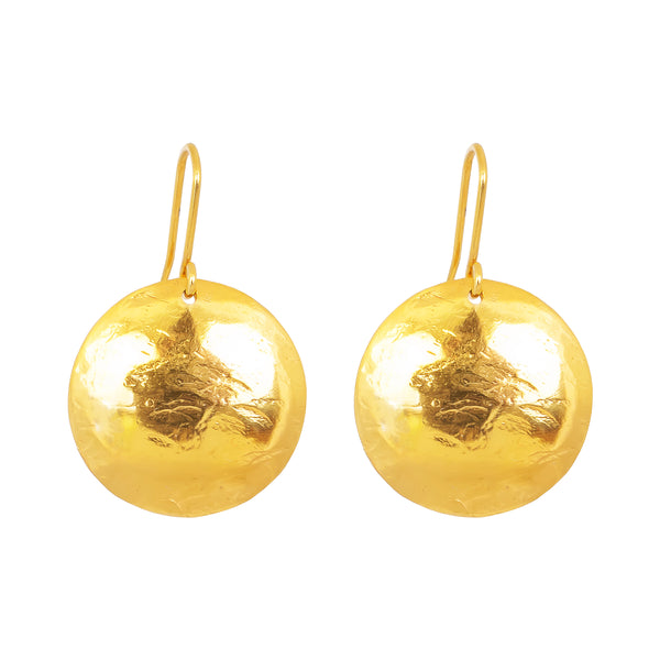 Rock Finders Keepers | Harlow Large Disc Earrings | Gold | VOULT.COM.AU