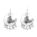 Rock Finders Keepers | Harlow Large Disc Earrings | Silver With Polished Silver Drops | VOULT.COM.AU