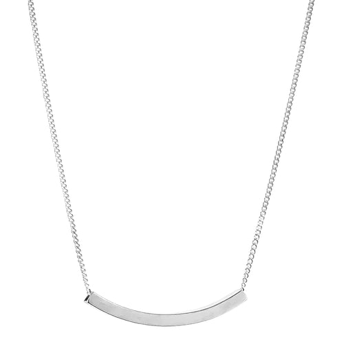 Rock Finders Keepers | Husk Fine Polished Bar Necklace | Silver | VOULT.COM.AU