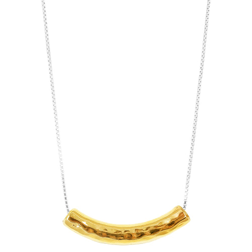 Rock Finders Keepers | Husk Large Hammered Bar Necklace - Long | Gold | VOULT.COM.AU