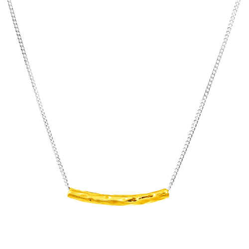 Rock Finders Keepers | Husk Petite Hammered Bar Necklace | Gold | VOULT.COM.AU