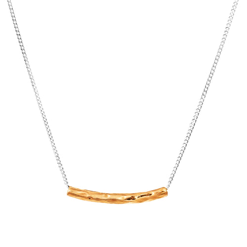 Rock Finders Keepers | Husk Petite Hammered Bar Necklace | Rose | VOULT.COM.AU