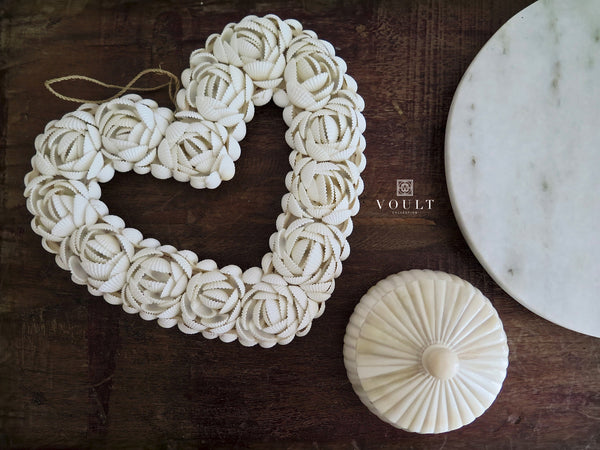 Shell Love Heart | All White