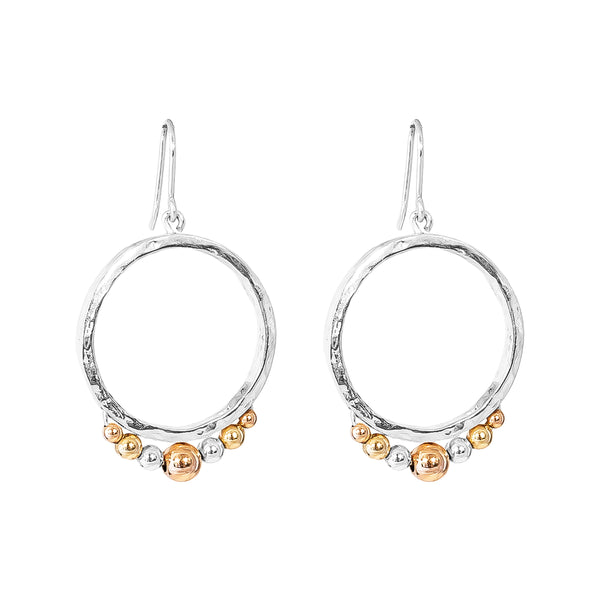 Rock Finders Keepers | Indigo Medium Hoop Earrings - Tri Detail | VOULT.COM.AU