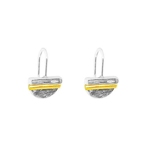 Rock Finders Keepers | Inez Fine Statement Hook Earrings - Polished Gold Detail | VOULT.COM.AU