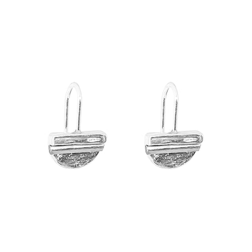 Rock Finders Keepers | Inez Fine Statement Hook Earrings - Polished Silver Detail | VOULT.COM.AU